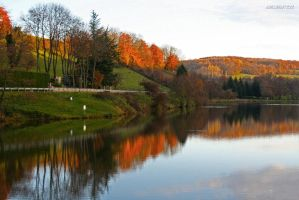 Lake in autumn (2) by J222R
