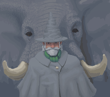 Elephant wizard by fawfulsbeanandart