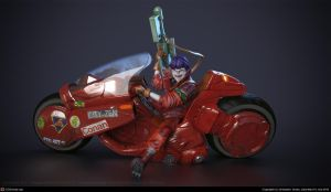 kaneda on bike by xtrm3d