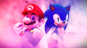 Mario and Sonic wallpaper by Hinata70756