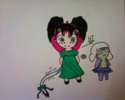 Kiva and her Frog by HelloSunniLove