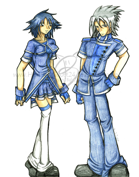 Chronos and Elorei - Uniforms- by HeartlessGhost24