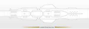 UESF SPACE NAVY - ANTAEUS-CLASS Destroyer WIP 02-2 by MisterK91