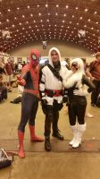 assassin spiderman and black cat by marty0x