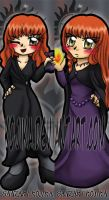 Commission: Rowena and Daughter bookmarks by kojika