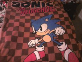 Classic Sonic The Hedgehog blanket by sonicfan40