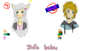 Adoptables batch 1: Girl: left to buy! Boy: Sold by MustachioMenace