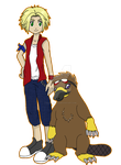 Digimon Academy: Michael + Anatimon by SulfuricAcid