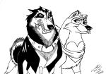 Kitara the wolfhound - Helix and Kiera by MortenEng21