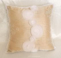 Gold Pillow by O-l-i-v-i