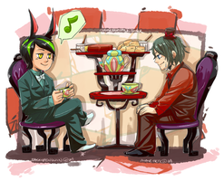 :CAA: Teatime by Zackypenguin