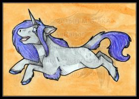 Chibi Watercolors: Unicorn 2015 by AirRaiser