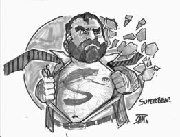 DAILY SKETCH SUPERBEAR by ultimate-dam