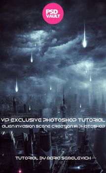 Exclusive Photoshop Tutorial Alien Invasion by MariaSemelevich