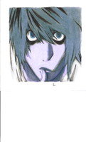 Death Note L by The-Tall-Midget