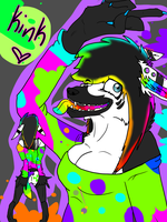 Kink the Rave Dog *NOT DONE* by KetchupClawz