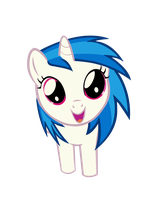 Vinyl Scratch Filly by PineappleSurferMoon
