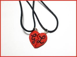 Custom Love Heart Pendant by CookingMaru