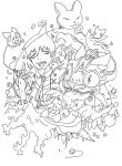 Amaimon-outlines by Sebbi-chan