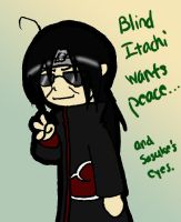 Blind Itachi by AsterUchiha