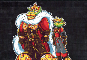 King Righteous And Sendo. Color Markers. by Virus-20
