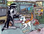 A Colt and his Dog by Sketchywolf-13