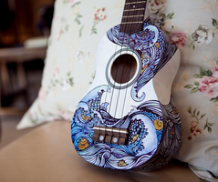 Ukulele Design - The Sea - Front by vivsters