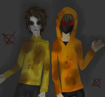 Masky and Hoodie by NOBERGAMER by NOOBERGAMER
