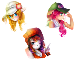 Hats by LilRedGummie