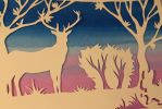 silhouette of deer by Vlada-chan