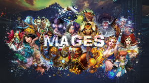 SMITE - Mages Wallpaper (Nox Edition) by Getsukeii