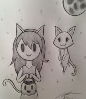 SHoJS: Spooky and the Cat on Halloween by Katkalis