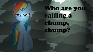Wallpaper RD Who are you calling a chump by Barrfind