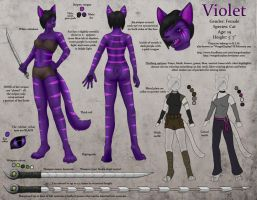 Violet Reference Sheet by WingedZephyr