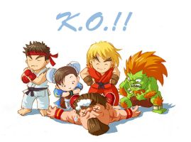 Cute Street Fighters by Tarhoay