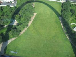 St. Louis Arch Shadow by marlirae