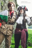 South Italy and Lady Portugal. by mory-chan