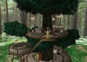 Jade's Treehouse by Fantasy-Visions