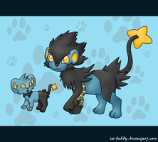 Shinx and Luxray by Isi-Daddy