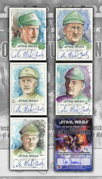 Topps Admiral Ozzel Sketchcards by CalSparrow