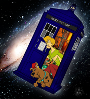 Scooby in the TARDIS by HisuiKaihane