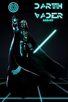Darth Vader TRONized by DarthDestruktor