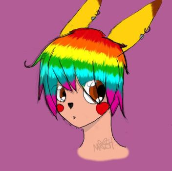 rainbow barf hair. :I by marizella