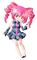 COLLAB - Teto Kasane Chibi by Snow-Songstress