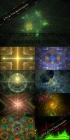 Abstract fractal backgrounds by DiZa-74