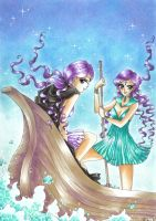 C: Sailor Lethe and Sailor Mnemosyne by Toto-the-cat