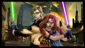 Star Wars Rebels - Luke Skywalker and Mara-Jade by Queen-Azshara