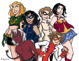 Teen Titans Chicago by msciuto
