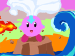 Kirby the last Airbender by BornInSkaia