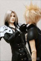 Sephiroth and Cloud - 03 by scargeear